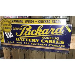 """""""Genuine Packard Battery Cables"""" Store Display Rack  9"""" x 20"""""""