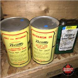 Beatty Oil Tins (3)