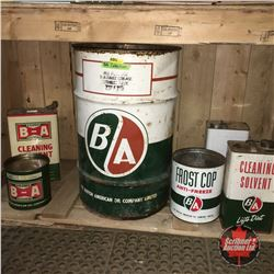B/A Collection : Tins (5) & Barrel