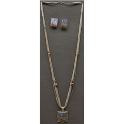 WESTERN NECKLACE AND EARRINGS ( CAROLYN POLLACK)