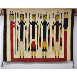 NAVAJO INDIAN TEXTILE (CORA WHITE)