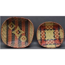 TWO CHITIMACHA INDIAN BASKETS