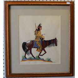 MESCALERO APACHE INDIAN PAINTING (PALMER)