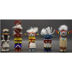 FIVE HOPI RT 66 KACHINAS