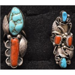 TWO NAVAJO INDIAN RINGS