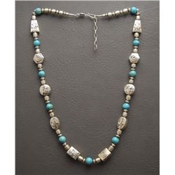 STERLING SILVER BEAD NECKLACE (CHRISTINE WOLF)
