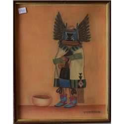 HOPI INDIAN PAINTING (PENTEWA)
