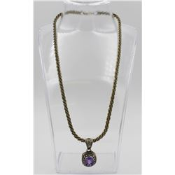 .925 AND 18K INDONESIA NECKLACE