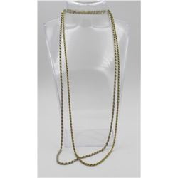 (2) STERLING SILVER ROPE STYLE CHAINS