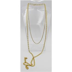TWO GOLD TONE .925 CHAINS