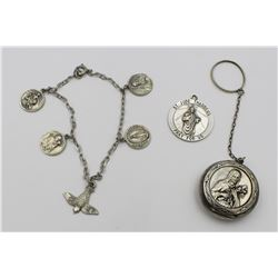 GROUP OF STERLING SILVER RELIGIOUS ITEMS