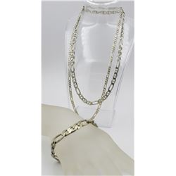 GROUP OF STERLING SILVER CHAINS