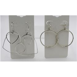 TWO PAIRS OF STERLING SILVER DANGLY EARRINGS