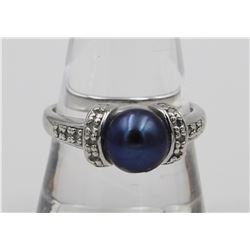 ESTATE STERLING SILVER CULTURED PEARL AND CZS