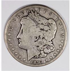 1893-CC MORGAN SILVER DOLLAR VG