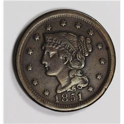 1851/81 LARGE CENT VF/XF