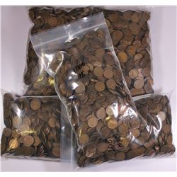 BAG OF 5000 WHEAT CENTS 1958 AND OLDER