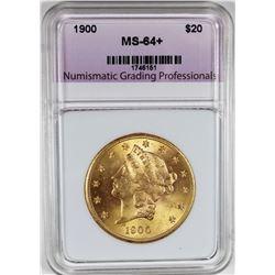 1900 $20 LIBERTY GOLD GEM BU
