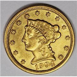 1904 $2.50 GOLD AU NICE