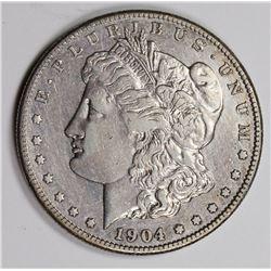 1904-S MORGAN SILVER DOLLAR XF-AU