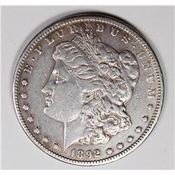 1892-CC MORGAN SILVER DOLLAR XF+