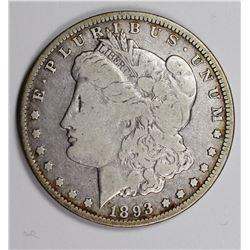 1893-O MORGAN SILVER DOLLAR VG
