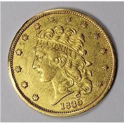 1835 $5 GOLD CLASSIC HEAD CH AU