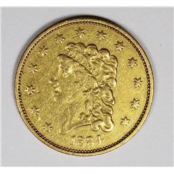 1834 $2.50 GOLD CLASSIC HEAD CH XF/AU