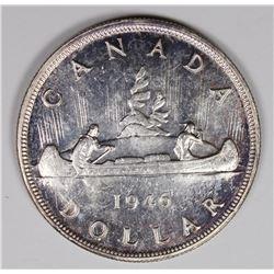 1946 CANADIAN SILVER DOLLAR CH BU++ NICE!