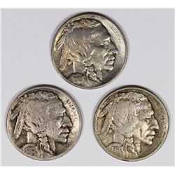 BUFFALO NICKELS: 1914-S, 1915 AND 1915-D