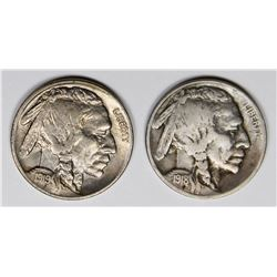 BUFFALO NICKELS: 1918-S AND 1919 XF