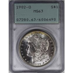 1902-O MORGAN SILVER DOLLAR PCGS MS63