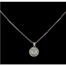 14KT White Gold 0.93 ctw Diamond Pendant With Chain