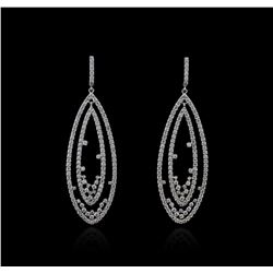 14KT White Gold 4.66 ctw Diamond Earrings