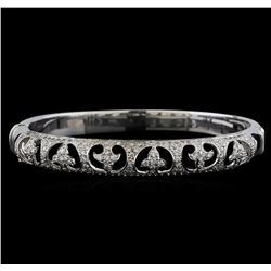 18KT White Gold 1.67 ctw Diamond Bangle Bracelet