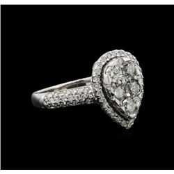 14KT White Gold 1.13 ctw Diamond Ring