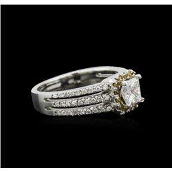 14KT White Gold 1.05 ctw Diamond Ring