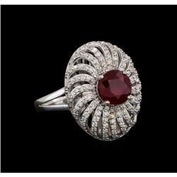 14KT White Gold 2.47 ctw Ruby and Diamond Ring