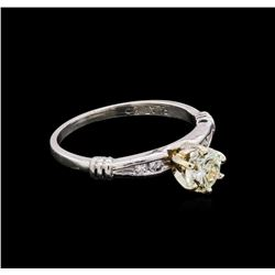 14KT White Gold 0.54 ctw Diamond Ring