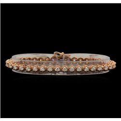 14KT Rose Gold 3.28 ctw Diamond Tennis Bracelet