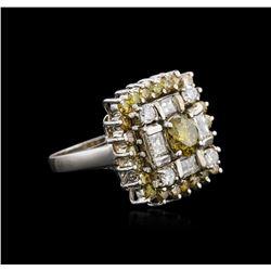 14KT White Gold 2.93 ctw Diamond Ring
