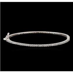 14KT White Gold 2.05 ctw Diamond Bangle Bracelet