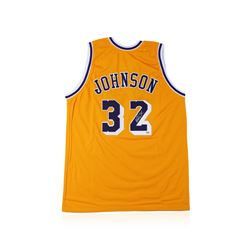 PSA Certified Magic Johnson Autographed Basketball Jersey