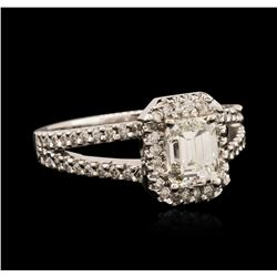14KT White Gold EGL USA Certified 1.36 ctw Diamond Ring