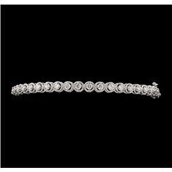 1.04 ctw Diamond Bangle Bracelet - 14KT White Gold