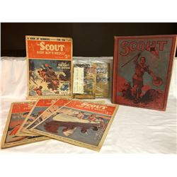 GR OF 8, BOY SCOUT LITERATURE COLLECTION - 1927 T0 1952