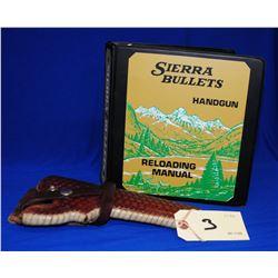 Siera Reloading Manual and Pistol Holster