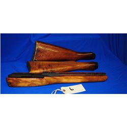 2 wood Buttstocks and 1 Forestock