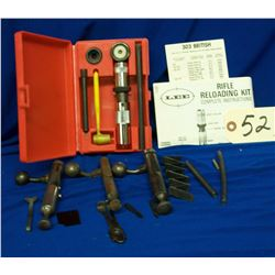 Box Lot Gun Parts and Reloading Kit