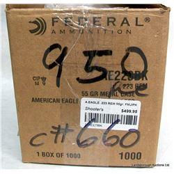 950 rnds Federal American eagle 223 Rem